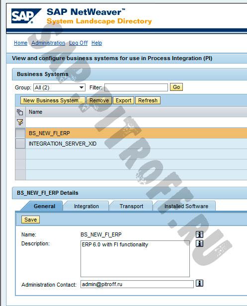 Рис.10: Новая бизнес-система в SLD