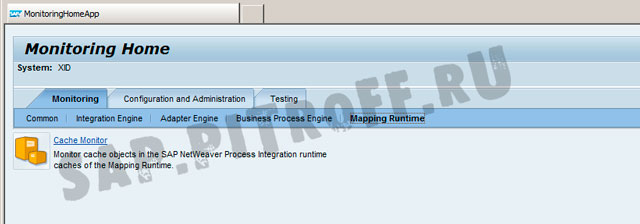 Рис. 12: Cache Monitor для программ преобразования (J2EE)