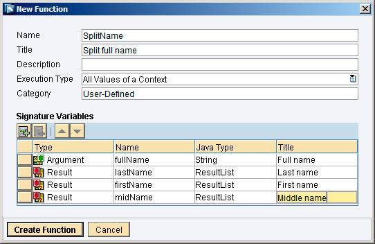 Рис.17: создание User Defined Function