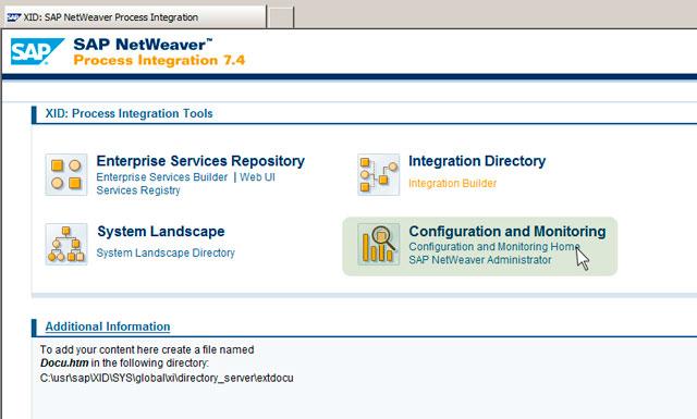 Рис.7: инструменты мониторинга SAP PI 7.4